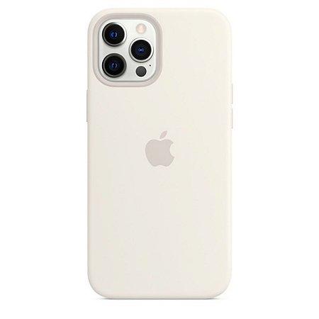 Capa Case Apple Silicone para iPhone 12 Pro Max - Branca