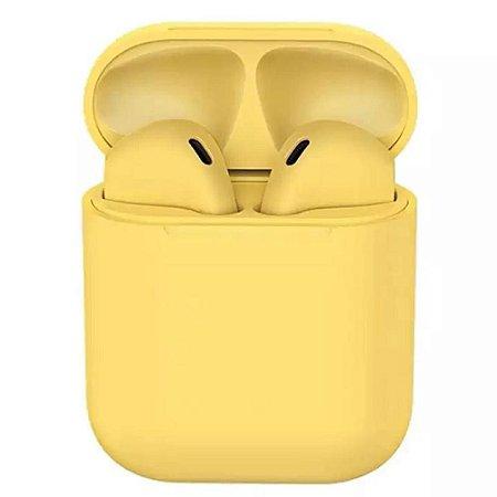 Fone de Ouvido Sem Fio Bluetooth InPods Color - Amarelo