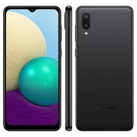Smartphone Samsung Galaxy A02 SM-A022M Dual SIM 64GB - Preto