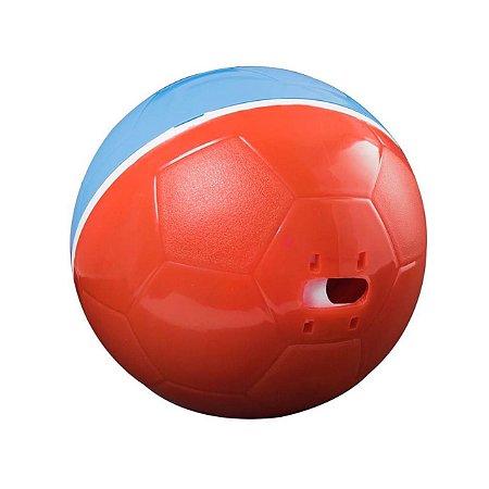 Crazy Ball Alimentador Brinquedo e Comedouro Azul e Vermelho