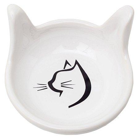 Comedouro Cabeça de Gato CloGatíssima Branco