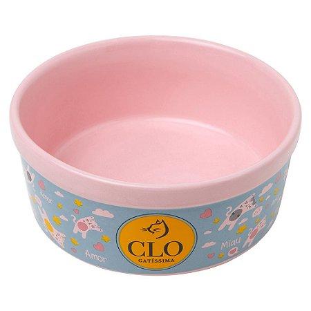 Comedouro de Cerâmica CloGatíssima Rosa