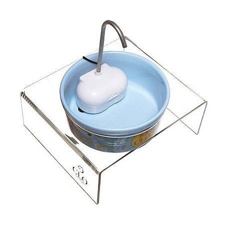 Fonte de água elevada para gatos Clofonte CloGatíssima Azul