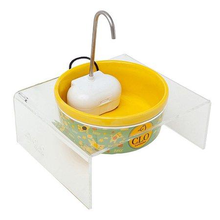 Fonte de água elevada para gatos Clofonte CloGatíssima Amarela