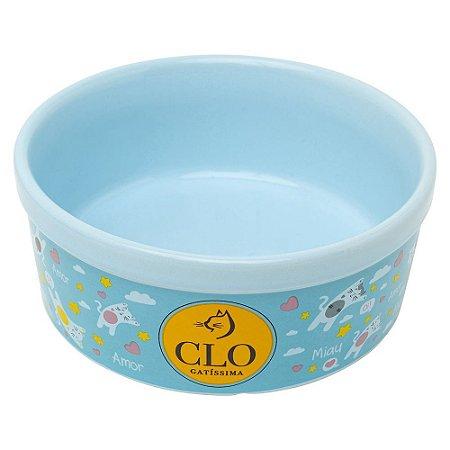 Comedouro de Cerâmica CloGatíssima Azul
