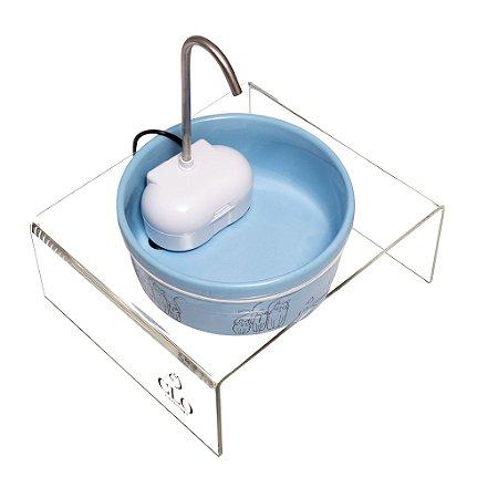 Fonte de água elevada para gatos Cat Family Blue CloGatíssima
