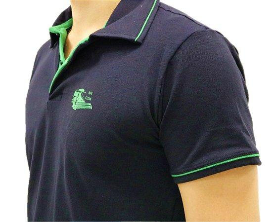 Camisa Polo Mais Soja Preto/Verde