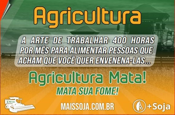 Adesivo Mais Soja Agricultura