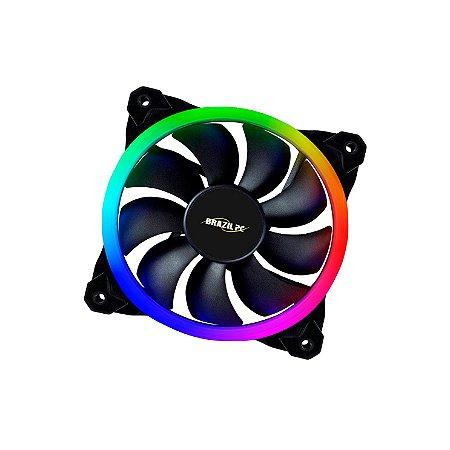FAN DUPLO LED RGB PARA GABINETE 120MM BPC-DL12-RGB