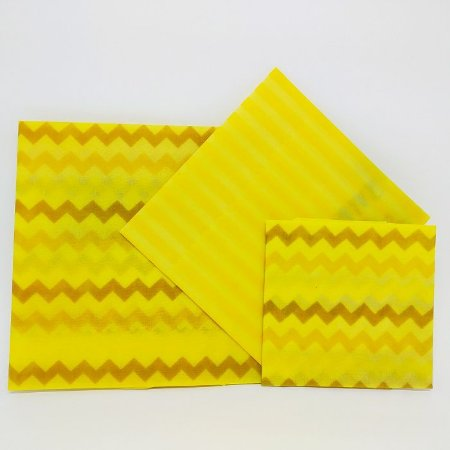 Listra Amarelo {Tecido de Cera * Kit com 3}