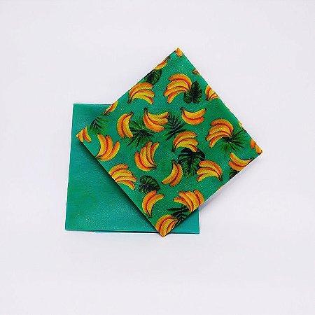 Bananas / Verde {Tecido de Cera * Kit com 2 M}