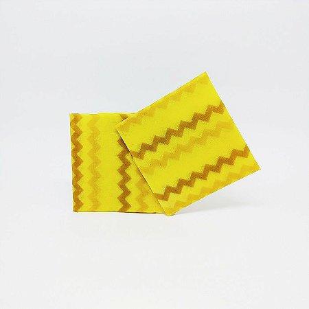 Listra Amarelo {Tecido de Cera * Kit com 2 P}