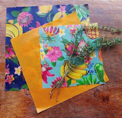 Frutas & Flores {Tecido de Cera * Kit com 3}
