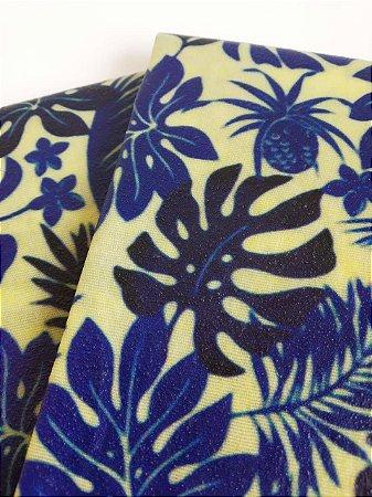 Tecido de Cera estampa Costela de Adão Azul {Kit com 2 M}