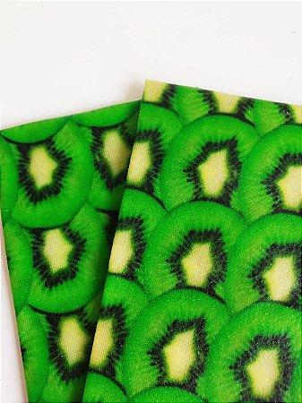 Tecido de Cera estampa Kiwi {Kit com 2 M}