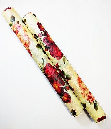 Rosas Vermelhas {Tecido de Cera * Kit com 2 M}