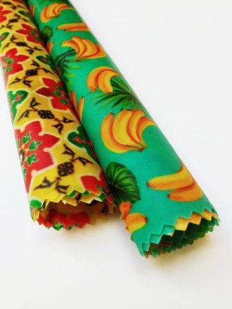 Mandala Flores Amarelo & Bananinha {Kit com 2 P/M}