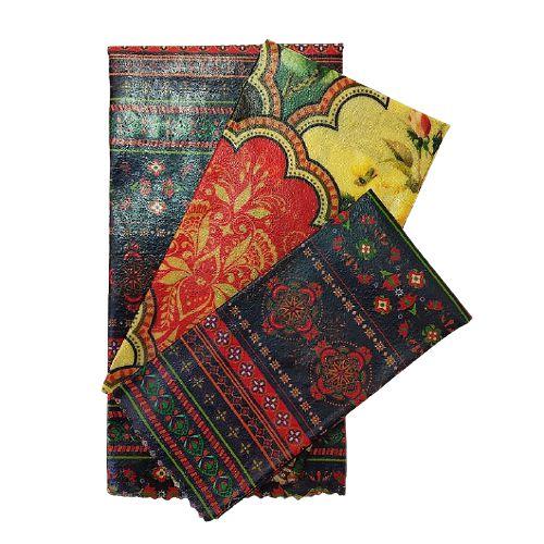 Pano de Cera estampa Listras Temáticas & Mandala {Kit com 3 P/M/G}