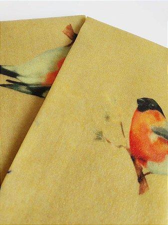 Tecido de Cera estampa Pássaros {Kit com 2 M}