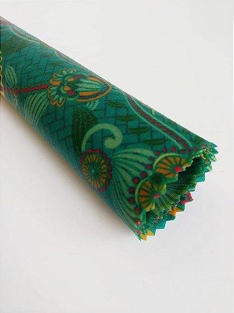 Tecido de Cera estampa Mandala Azul {GG Unitário}