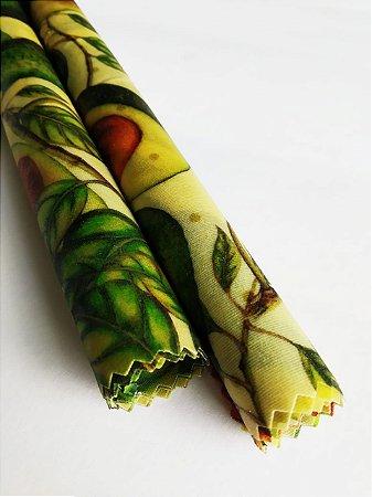Abacate {Tecido de Cera * Kit com 2 P}