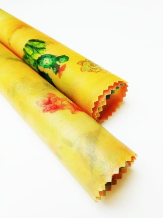 Tecido de Cera estampa Passarinho no Deserto {Kit com 2 G}