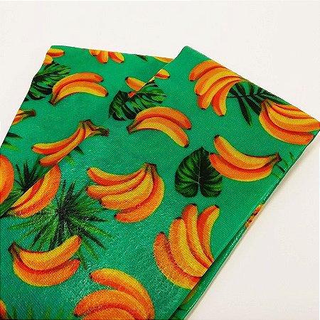 Tecido de Cera estampa Bananinha {Kit com 2 P}