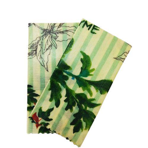 Tecido de Cera estampa Temperos {Kit com 2 P}