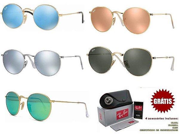 7df2c0fa13390 Kit 10 Óculos Ray ban Round No Atacado Para Revenda