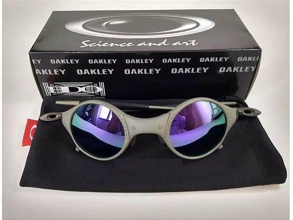 0b2aee3d4 Oculos Oakley Mars Medusa Roxa + Saquinho + Caixa Da Oakley ...