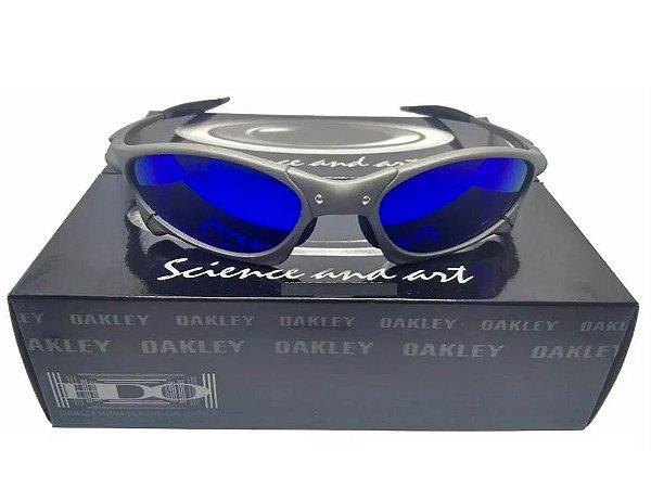 0331657db Repllica Oculos Oakley Penny Metal Azul Teste + Certificado ...