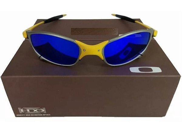 4fbbe29da Replica de Oculos Oakley Juliet 24k Azul +certificado+teste ...