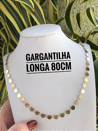 GARGANTILHA FOLHEADA A OURO