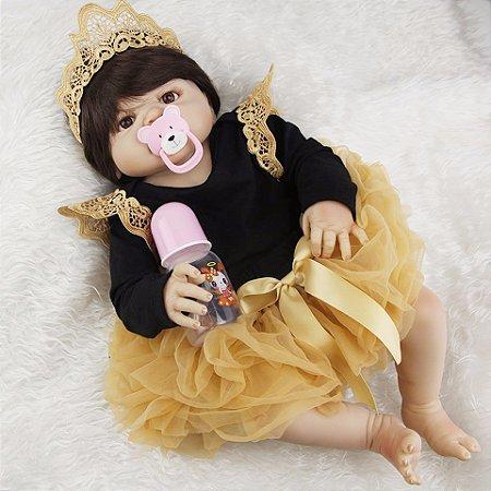 Boneca Bebe Reborn, Menina Princesa, Pronta Entrega