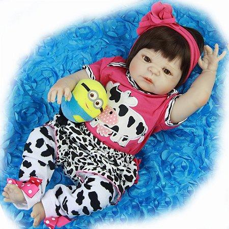 Bebe Reborn de Silicone Cow Girl Pronta Entrega