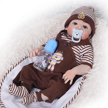 Bebe Reborn Menino Monkey 52cm Pronta Entrega