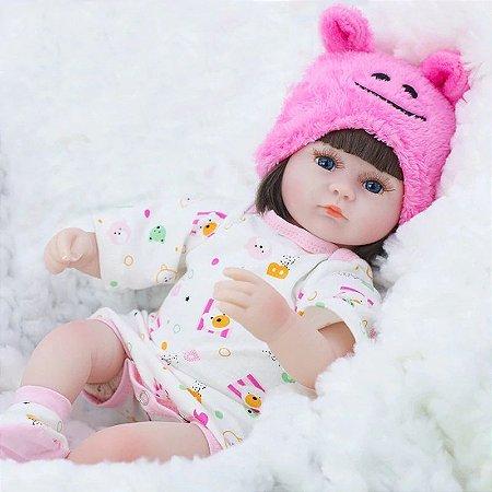Bebe Reborn Touquinha Rosa, Menina Linda