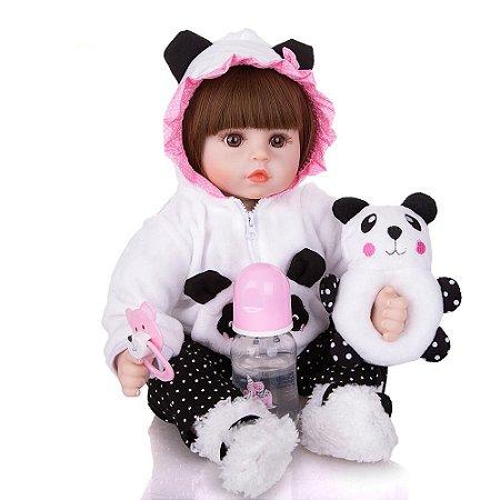Bebe Reborn Menina, Panda   Pronta Entrega