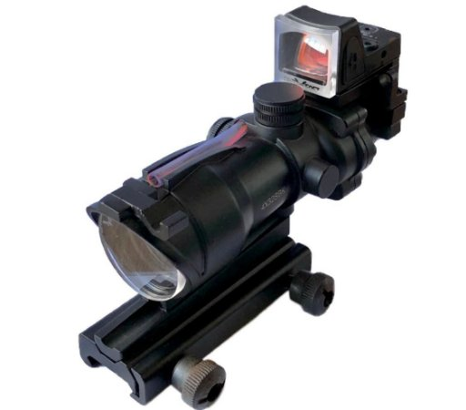 Protetor Acog e Mini Red Dot Airsoft Lente 4mm
