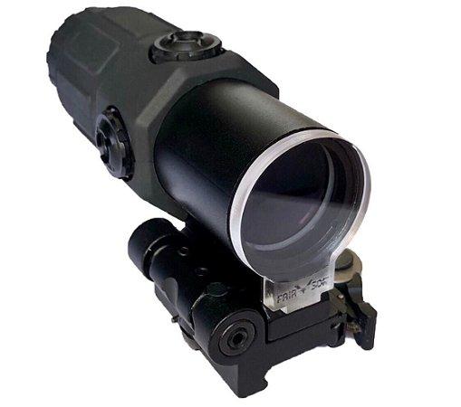 Protetor de mira Magnifer 3x 4x 5x Airsoft Lente 4mm