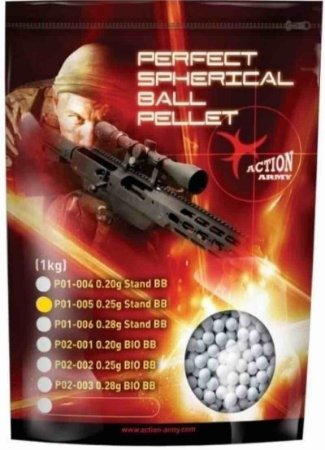 Bbs Airsoft 0.25g Action Army 1kg