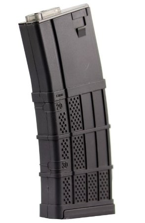 Magazine Airsoft Mid Cap Armadillo Lancer 130 bbs - Black
