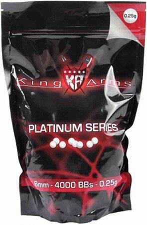 Bbs Airsoft 0.25g King Arms Platinum 1kg