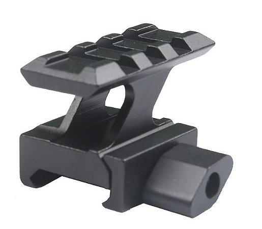 Elevador Suporte Trilho Picatinny 3 Slots 20mm