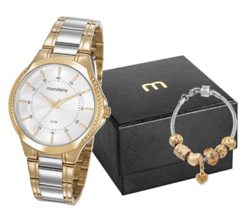 Kit Relógio Feminino Bicolor Mondaine 99398LPMVBE2K1