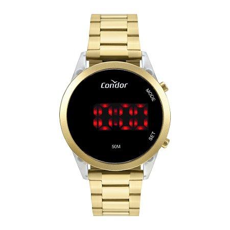 Kit Relógio Condor Feminino Digital Dourado COJHS31BAF/K7D