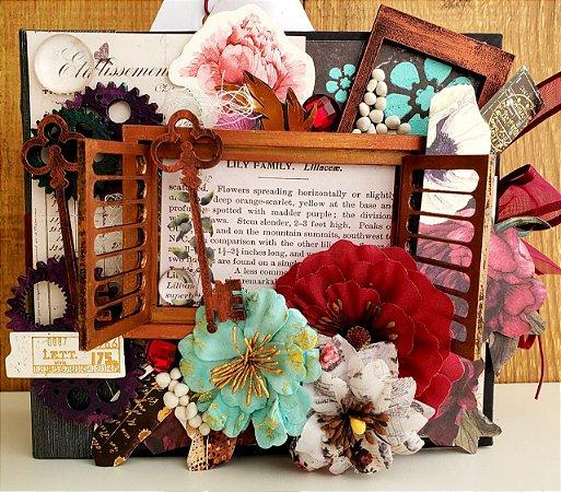 Mini Album Flores na Janela