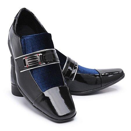 Sapato Social Masculino Em Verniz Bikarelo 109