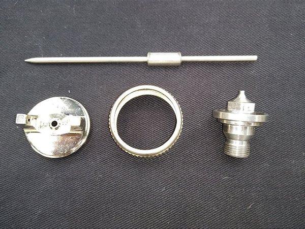 Conjunto Capa, Bico E Agulha 1.8MM Para Pistola De Pintura P4001 Intech Machine