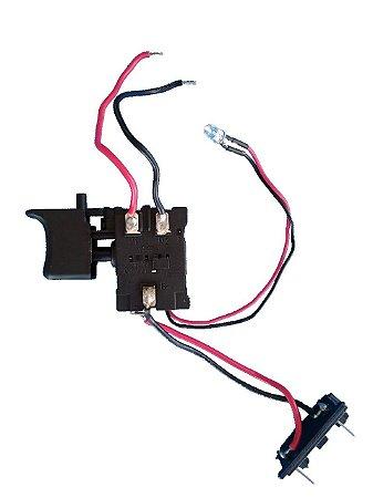 Gatilho Interruptor Para Parafusadeira Furadeira 16V Lithium G12102/BR/21V Lithium G1203/BR Gamma Ferramentas